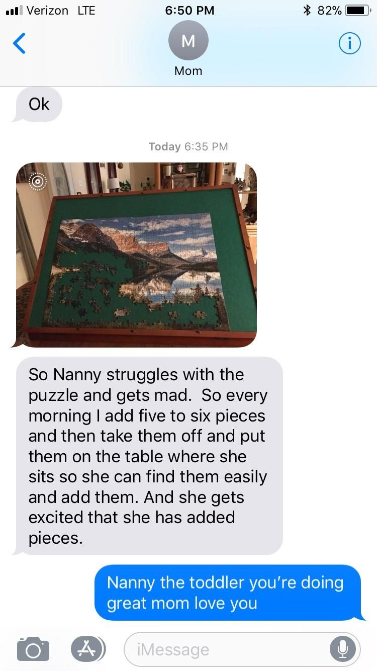 Nanny struggles with the puzzle and gets mad...http//ift