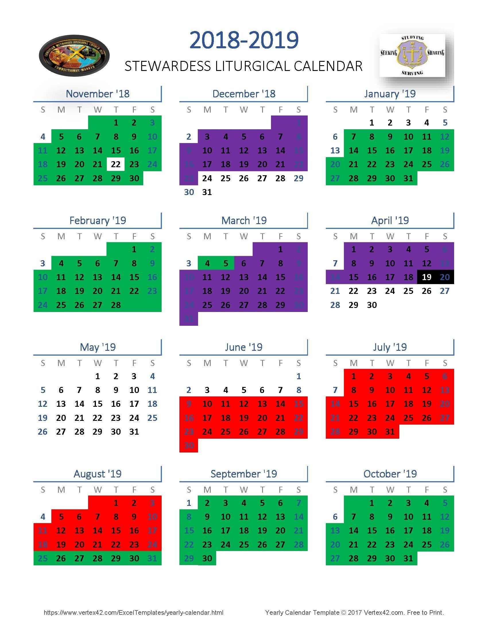 Create Your Liturgical Colors Calendar For Methodist In