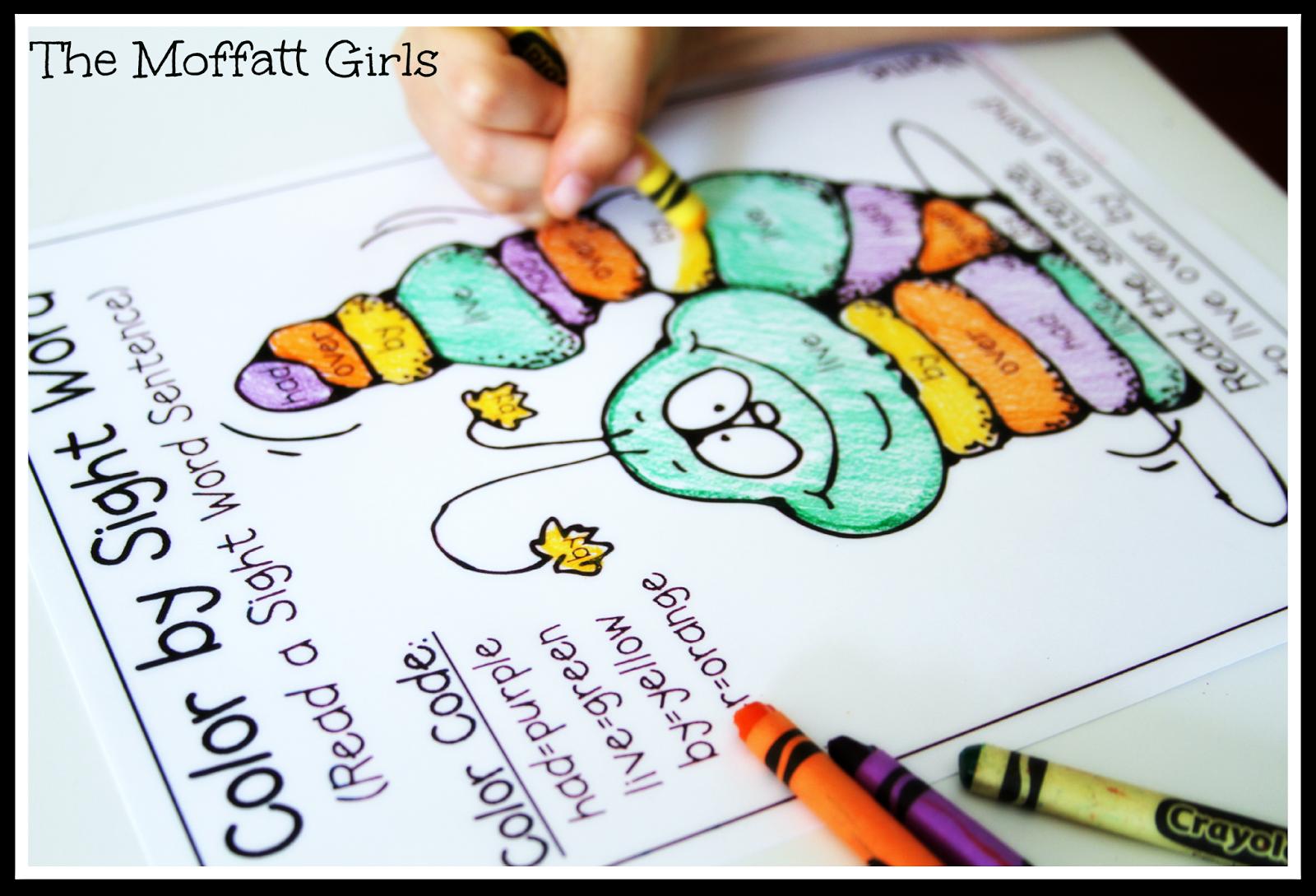 Recognizing Color Words Worksheet