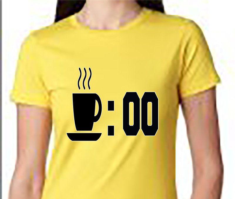 Coffee Oclock Shirt Next Level Womens Java Break Time Meme Joke Cafe Espresso Funny