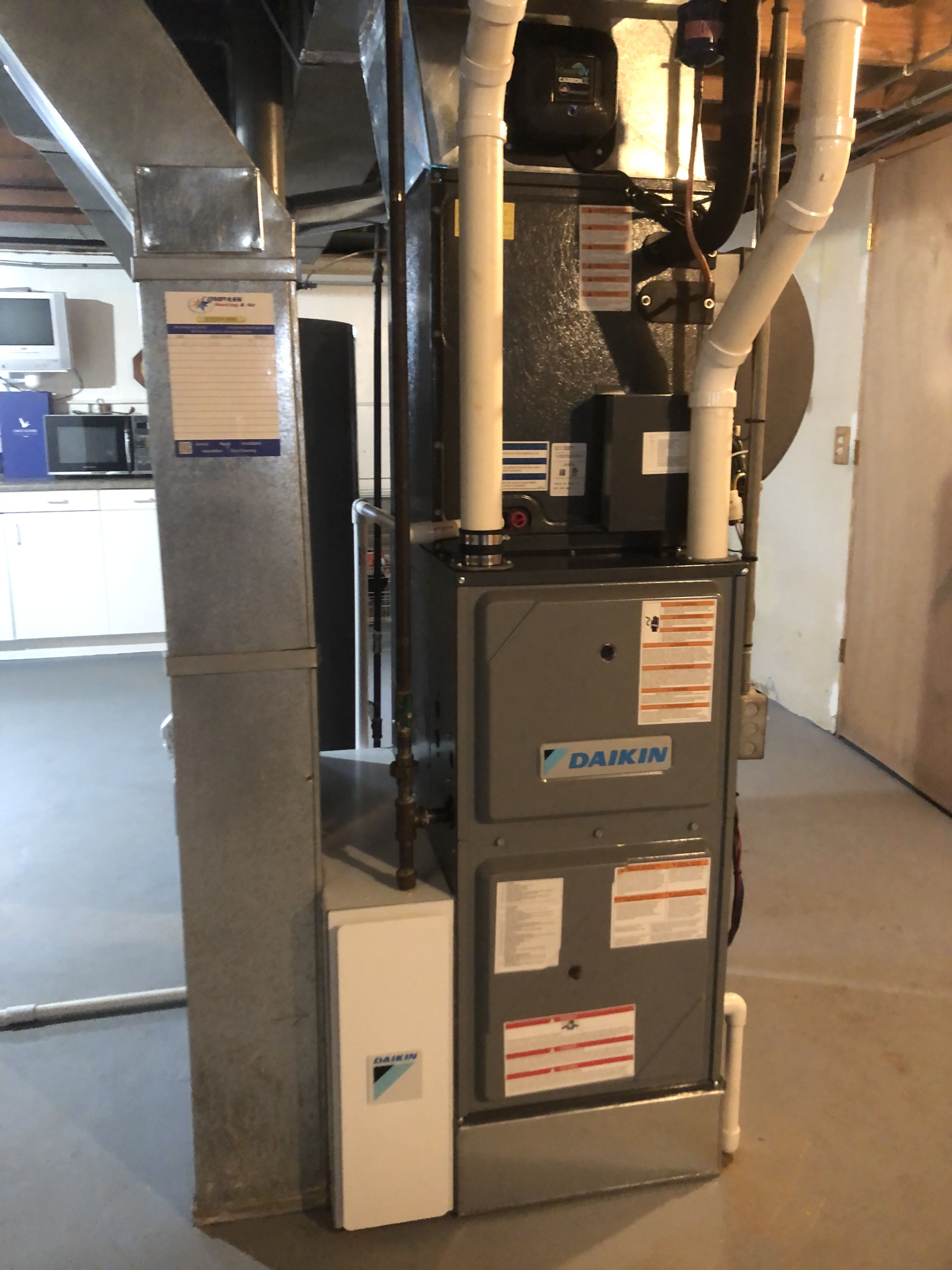 Daikin 98 modulating furnace w/ Daikin One MERV 15 air