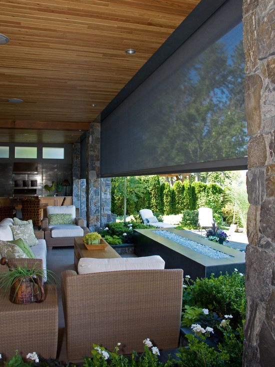 Screen Door Design Ideas Pictures Remodel And Decor Outdoor Blinds Contemporary Patio Patio Shade