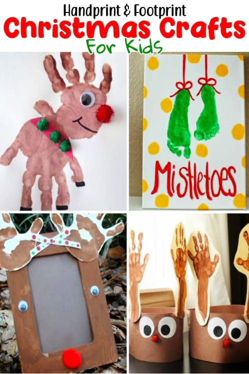 Christmas Crafts For Kids-Handprint
