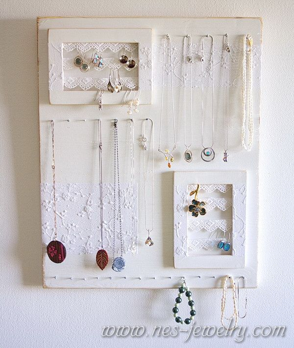 Shabby chic jewelry organizer DIY Shabby chic jewelry Shabby and