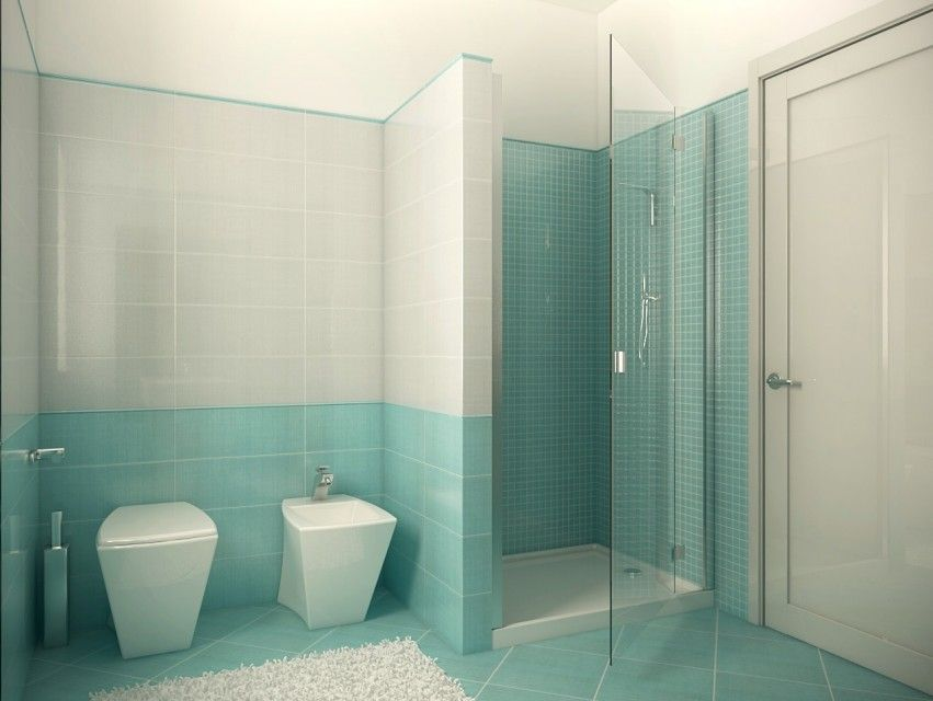 Bagno azzurro shower