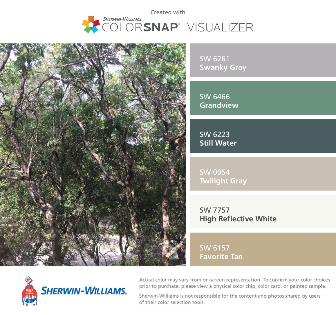 Sherwin Williams Color Favorites: I Found These Colors With ColorSnap® Visualizer For IPhone