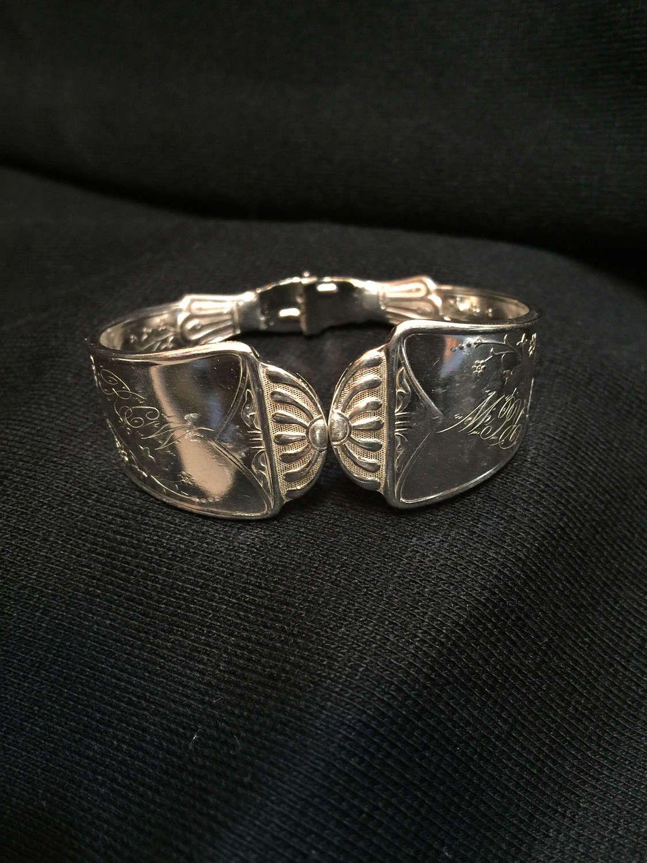 2a3f0ec80f511 Beautiful hinged silverware bracelet. $30   Silverware jewelry ...