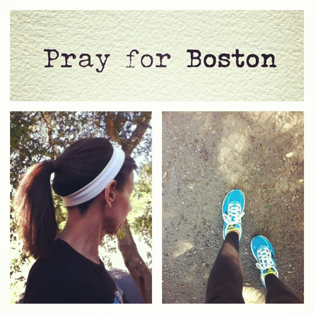"Running ""free"" today (no earbuds) and praying for Boston. The running community uniting and supporting Boston!"