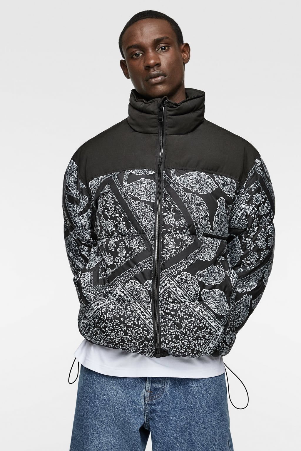 Image 2 Of Bandanna Print Puffer Jacket From Zara Jackets Bandannas Puffer Jackets