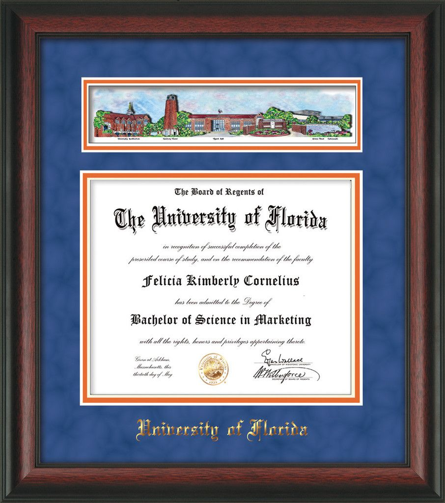 university of florida diploma frame rosewood w uf embossed