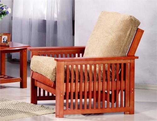 Manhattan Chair Futon Frame Teak Finish The Like