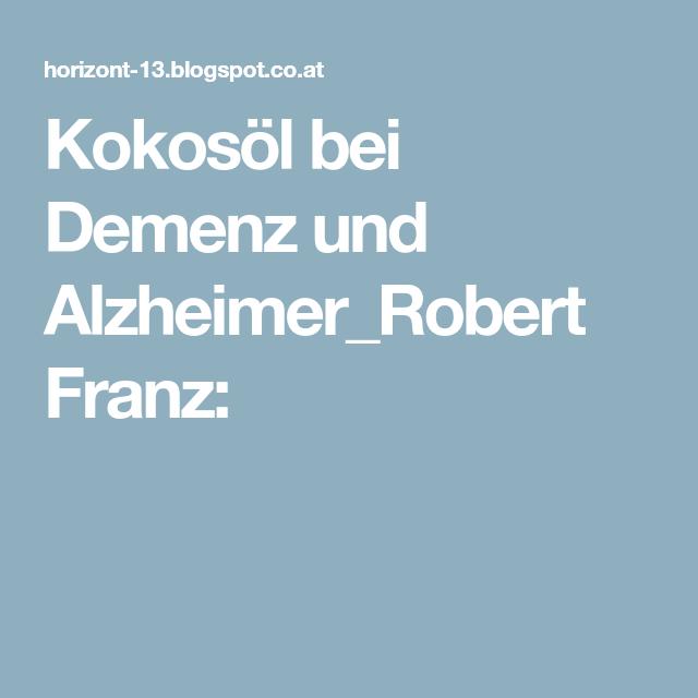 Kokosöl Bei Alzheimer