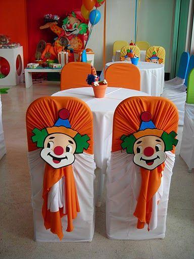 Decorar sillas para cumplea os infantiles tematica circo - Decorar cumpleanos infantil ...