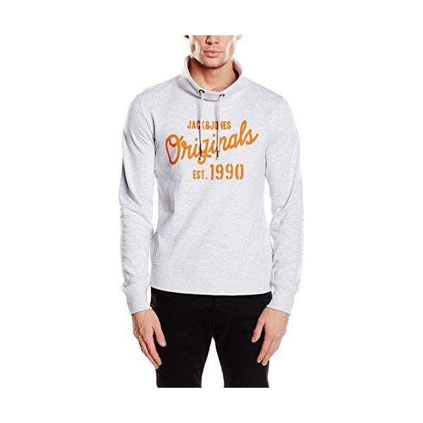 Jack /& Jones Herren Hoodie mit Print Kapuzenpullover Sweatshirt Casual Sweater