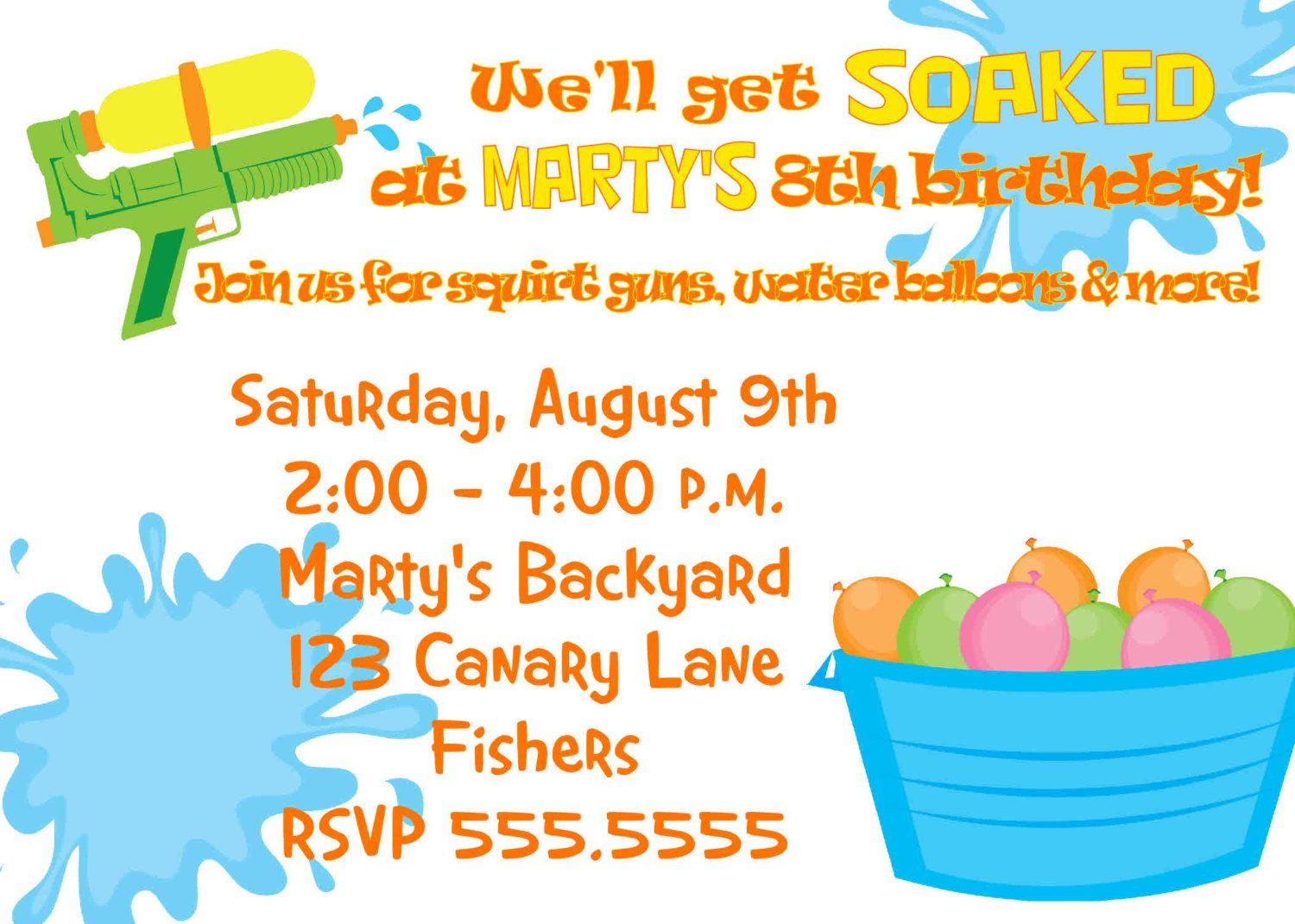 water party invite? digital water party birthday invitation, Party invitations