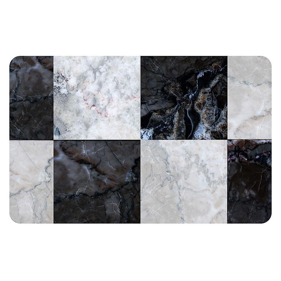 Weatherguard Premium Comfort 22 By 31 Faux Tile Floor Mat Black White In 2020 Tile Floor Tiles Flooring