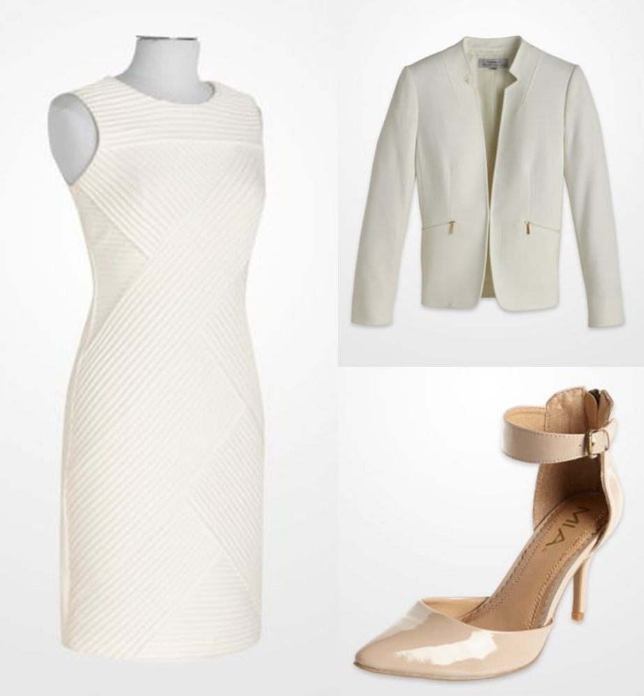 K G Fashions Dresses: Winter Was Made For White! Gold Accents And Neutral Shoes