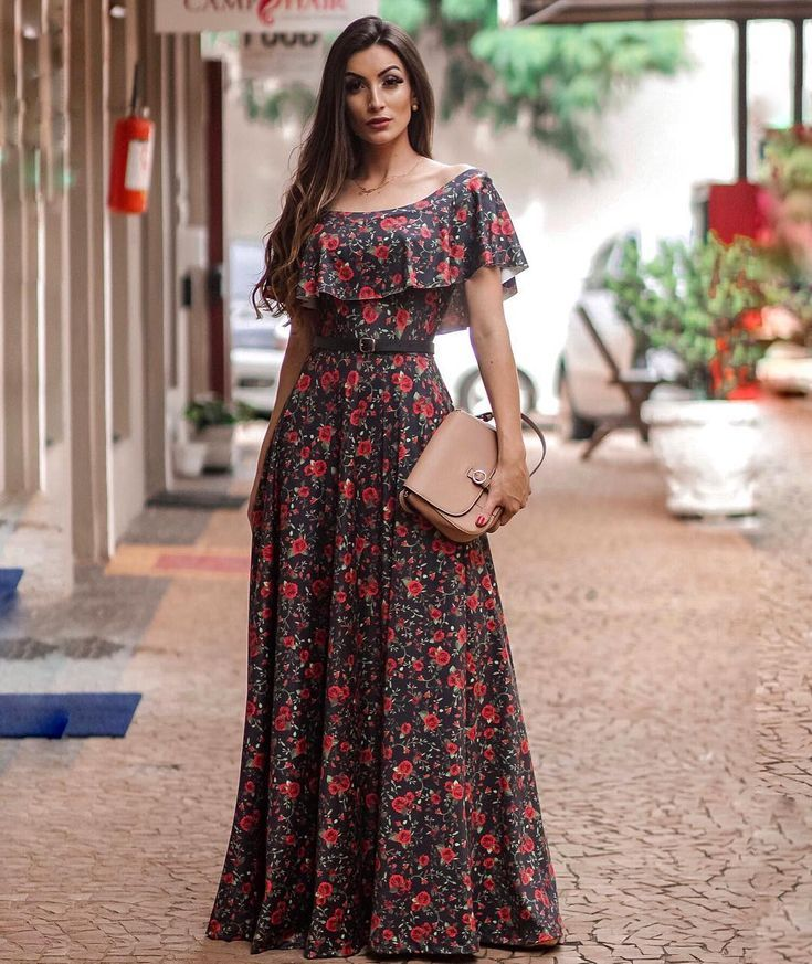 a3b0a7c92f Vestido longo com estampa floral
