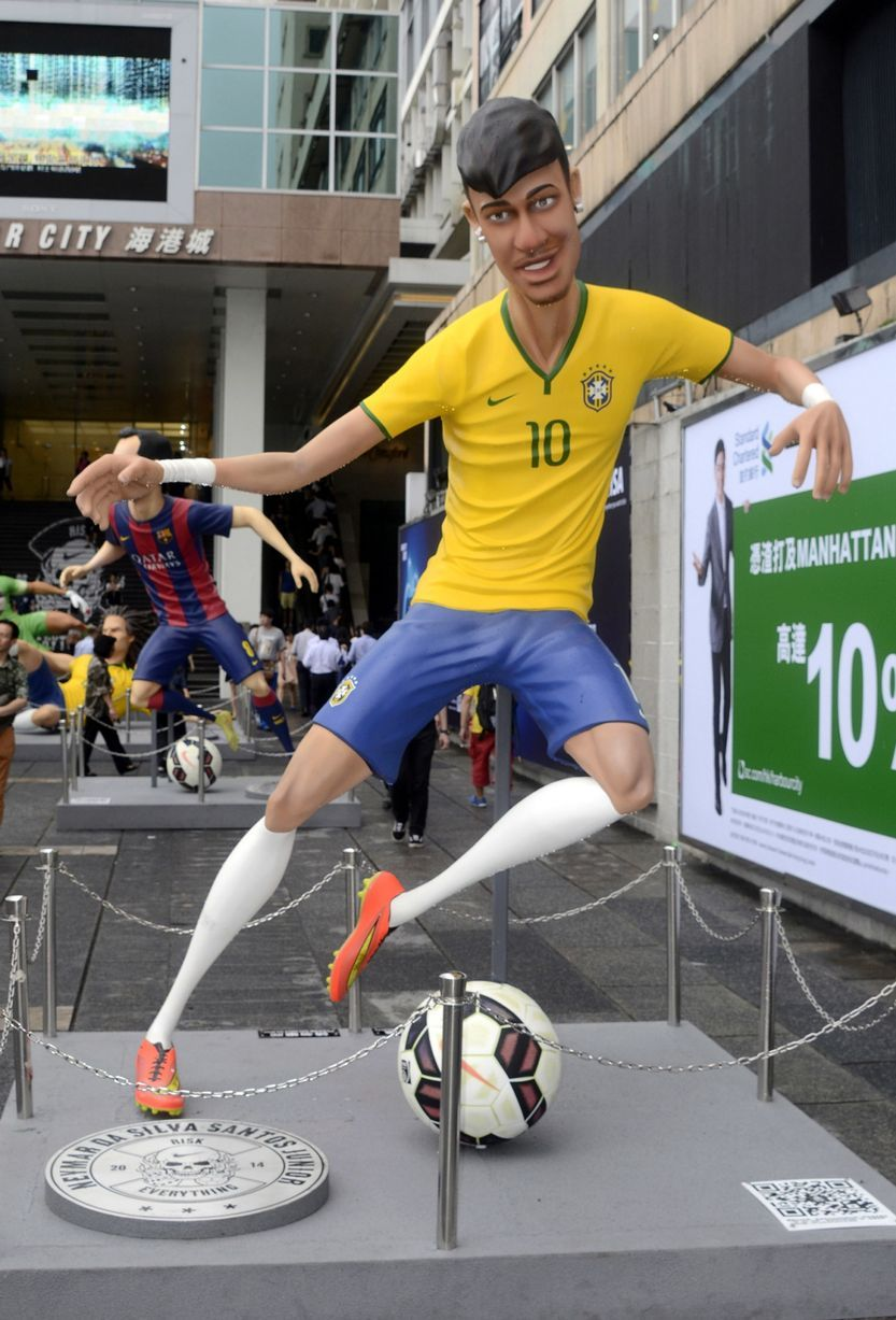 Neymar jr Sports manufacturer Nike have transformed the stars from their  animation into statues
