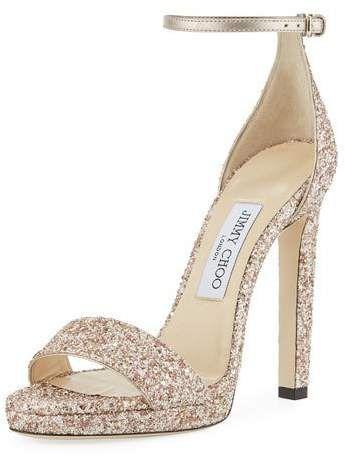 92889f0bfed Jimmy Choo Misty Glitter Platform Sandals