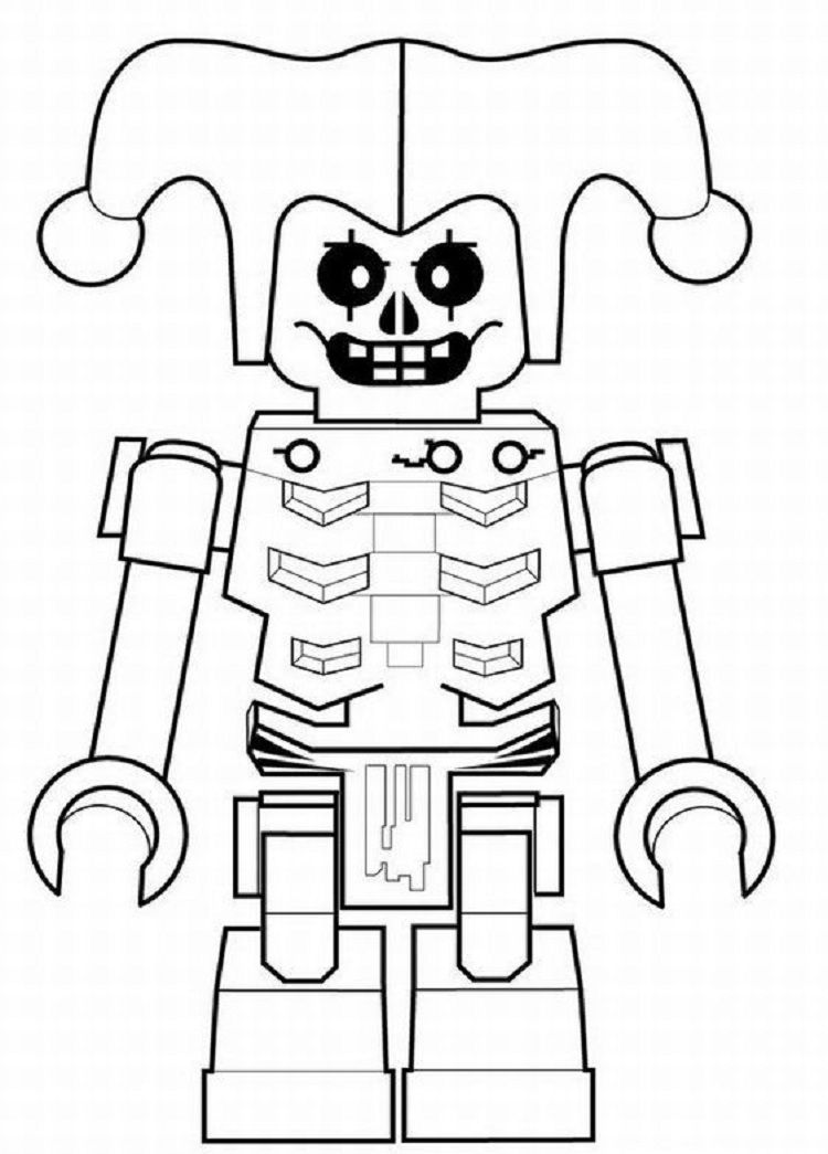 Lego Skeleton Coloring Pages