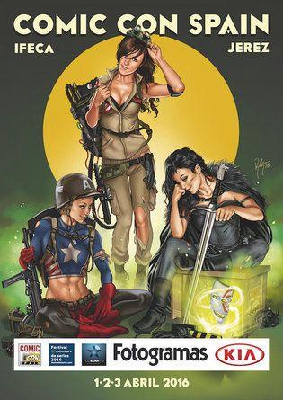 Cartel de la Comic Con Spain 2016