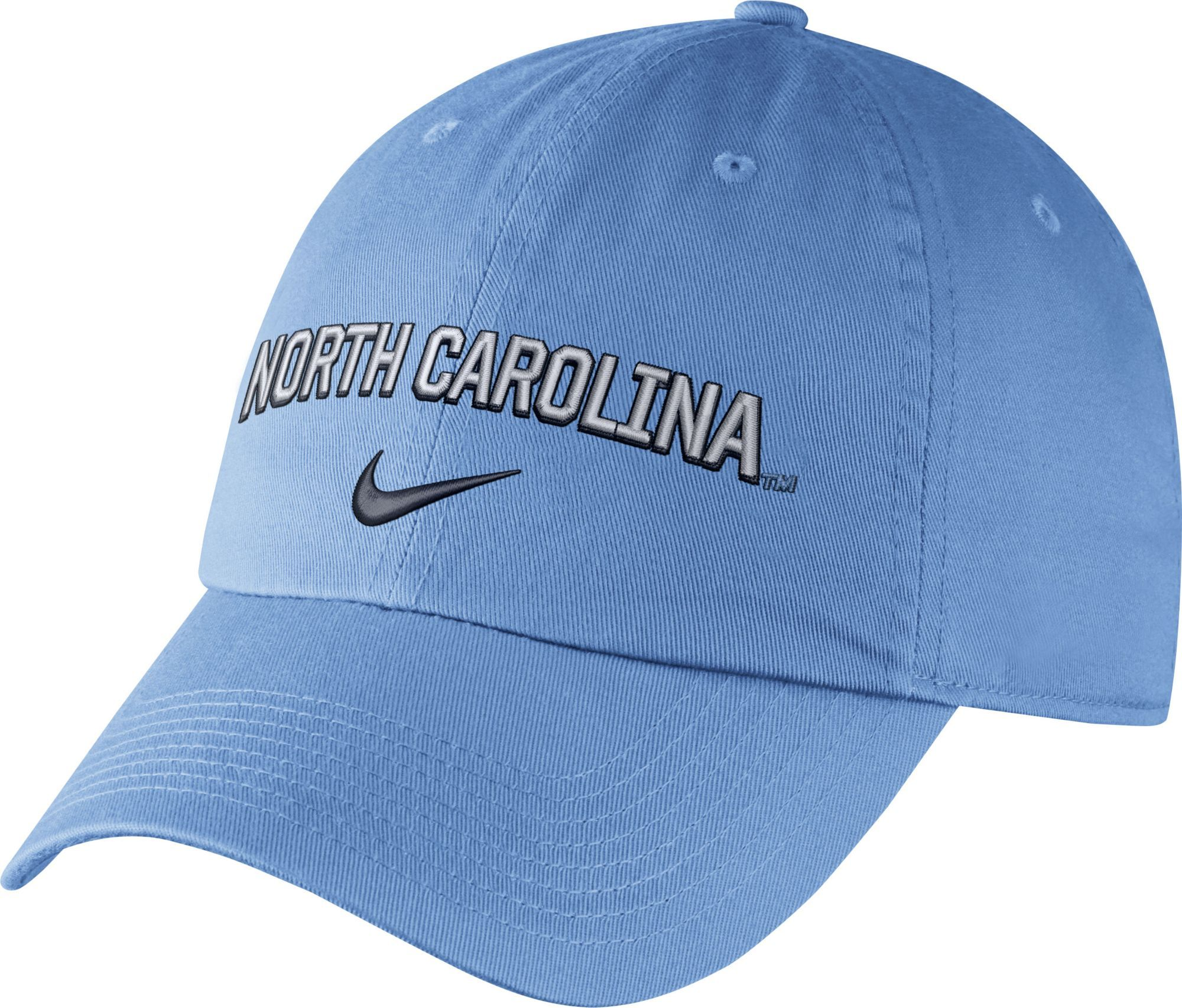 cheap for discount 85be6 74f38 Nike Men s North Carolina Tar Heels Carolina Blue Heritage86 Wordmark  Swoosh Flex Hat, Team