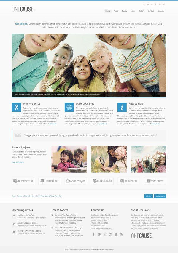 OneCause Responsive Charity \ Non-Profit Joomla Theme by - ngo templates