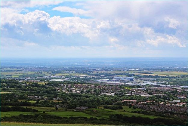 """View from Rivington Pike - """"Meeting Up Thousands Of Miles From Home By Coincidence."""" #67notout #coincidence"""