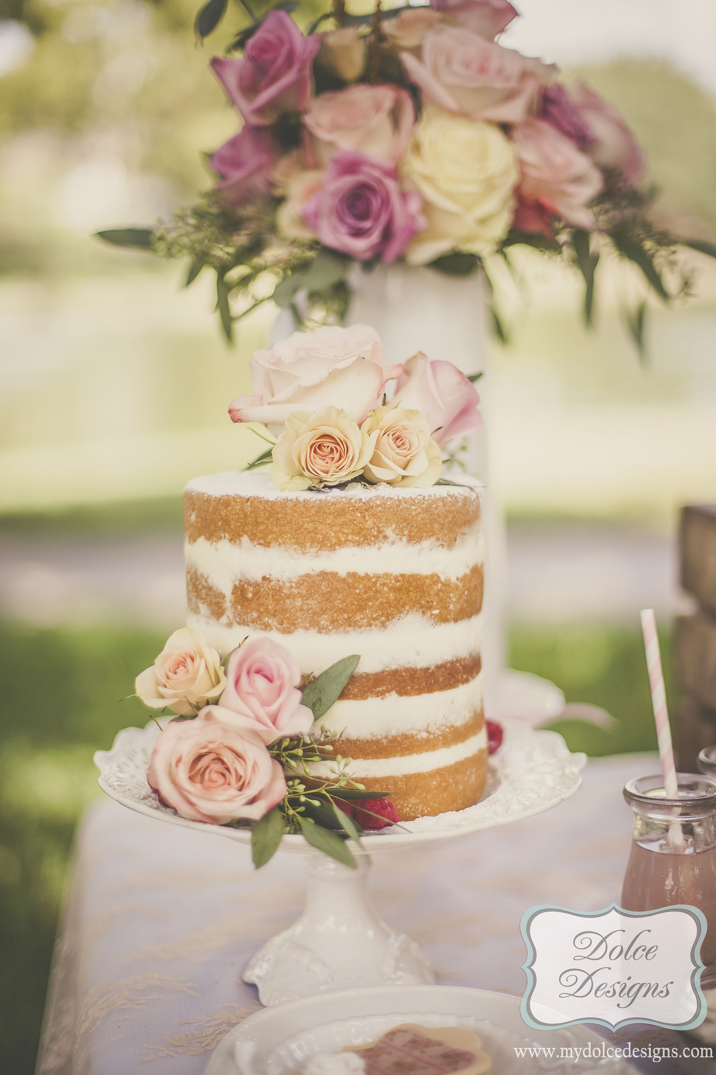 orchid naked cake - Google Search | Cakes | Pinterest | Wedding ...