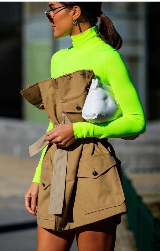 10 looks qui vous apprendront à porter la tendance néon en 2018   – Outfits amarillos