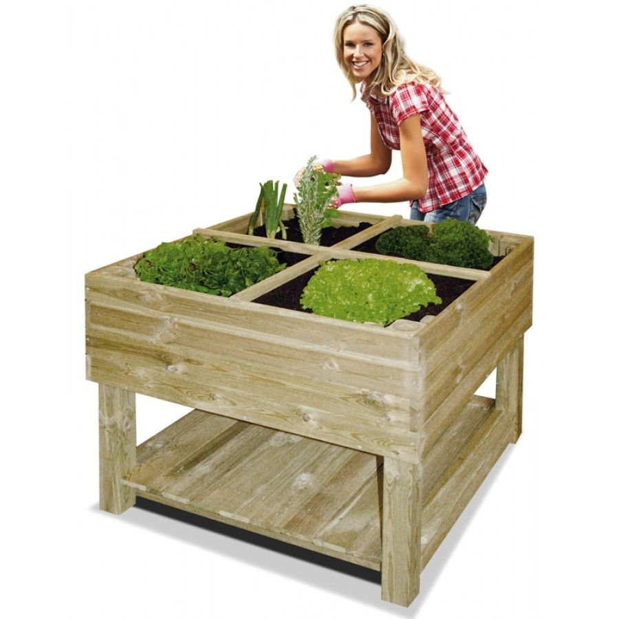 pour terrarium jardin potager sur pieds 100 x 100 x 80 cm. Black Bedroom Furniture Sets. Home Design Ideas