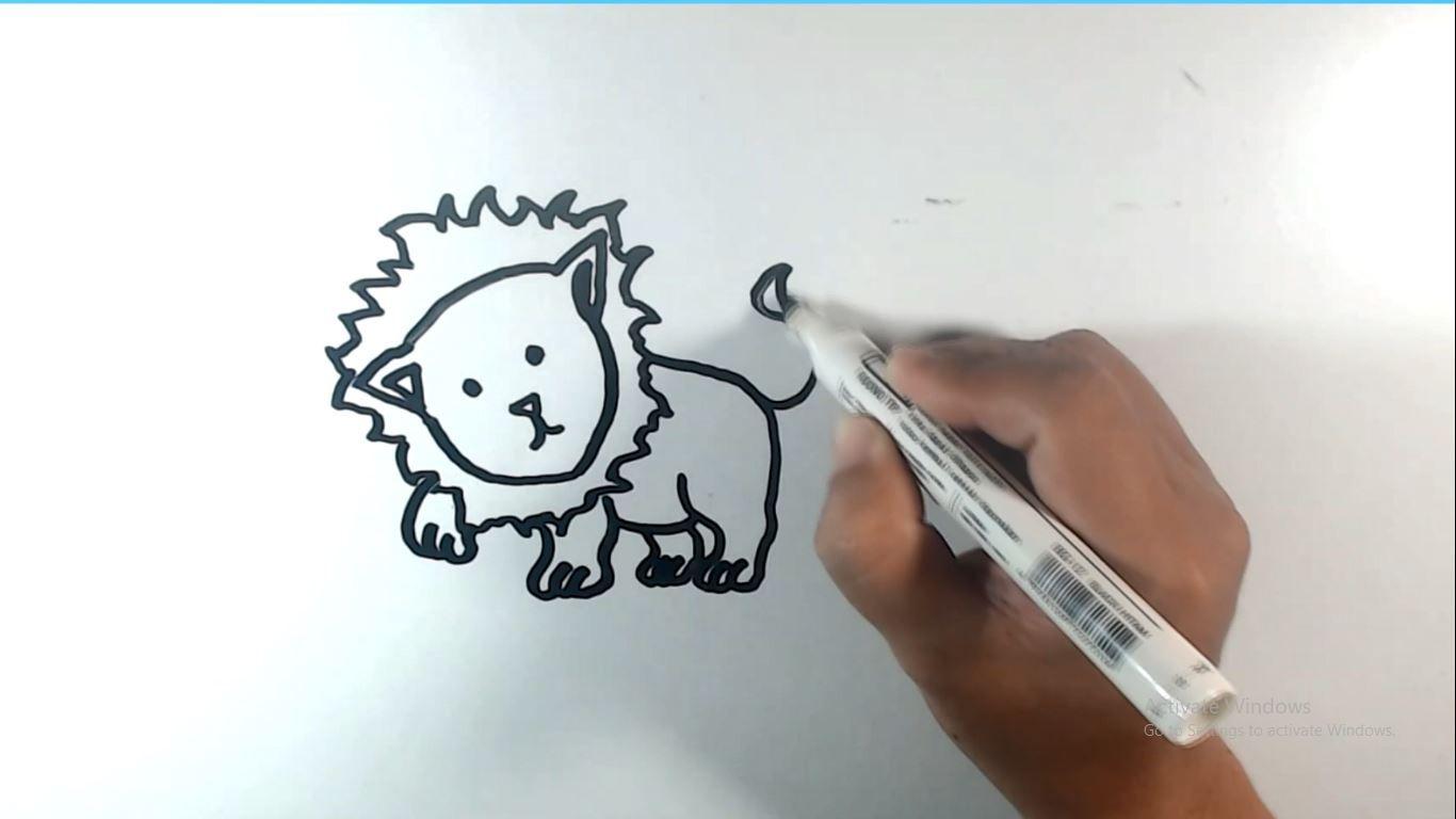 Cara Menggambar Hewan Lucu Singa Anjing Macan Monyet Buaya Gajah Kuda Nil Cara Menggambar Gambar Hewan Hewan Lucu