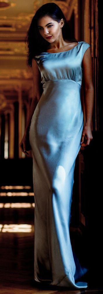 Blue lace dress spectre performance