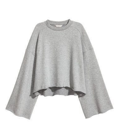 brand new effe3 dcae3 Sweatshirt mit weiten Ärmeln   Graumeliert   Damen   H&M DE ...