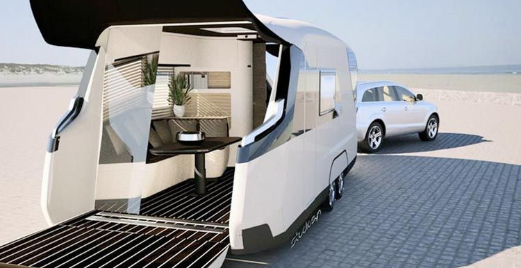 Find Out The Caravan Of The Future Luxury And Latest Technology Luxury Campers Luxury Caravans Travel Trailer