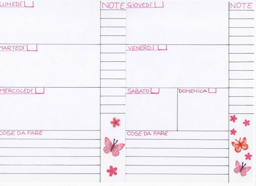 spesso Refill settimana su due pagine | Agenda | Pinterest | A5 and  PF97