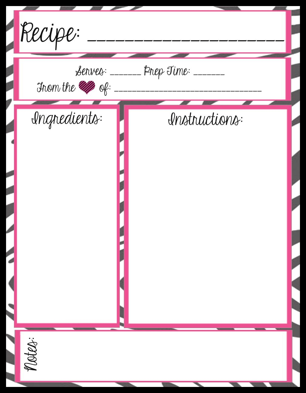 mesa s place full page recipe templates free printables