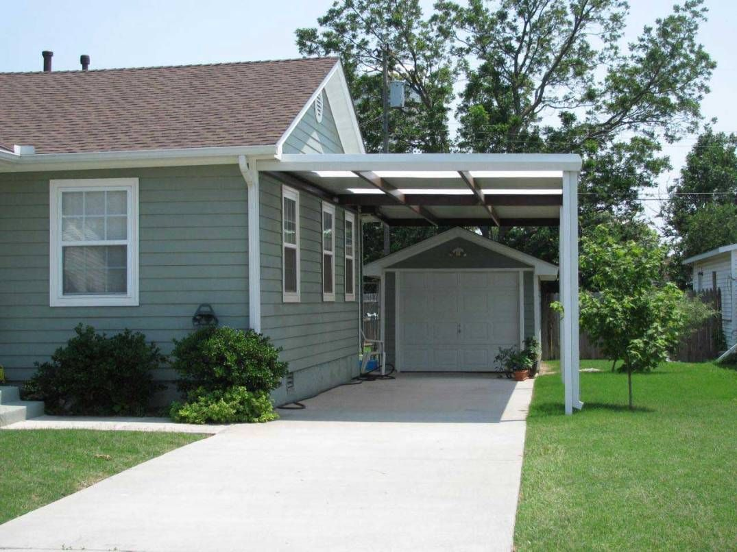 Outdoor simple yet highly modern car port ideas attached for Attached carport ideas