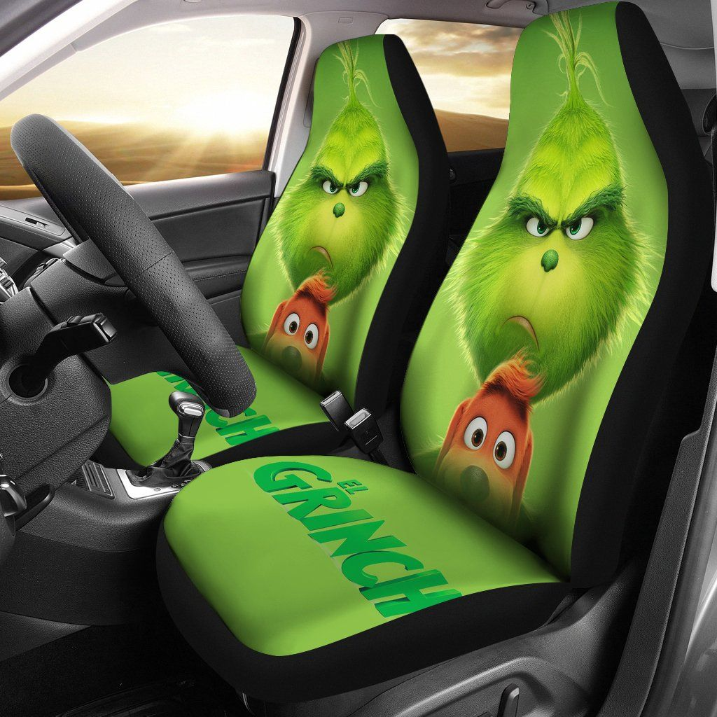 Pleasant Grinch And Max Cute Car Seat Covers Lt03 The Grinch Movie Machost Co Dining Chair Design Ideas Machostcouk