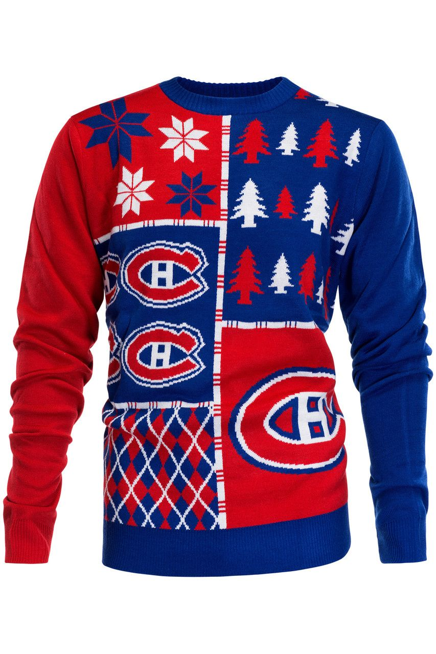 Design your own t shirt montreal - Montreal Canadiens Ugly Christmas Sweater Nhl 2016 Design
