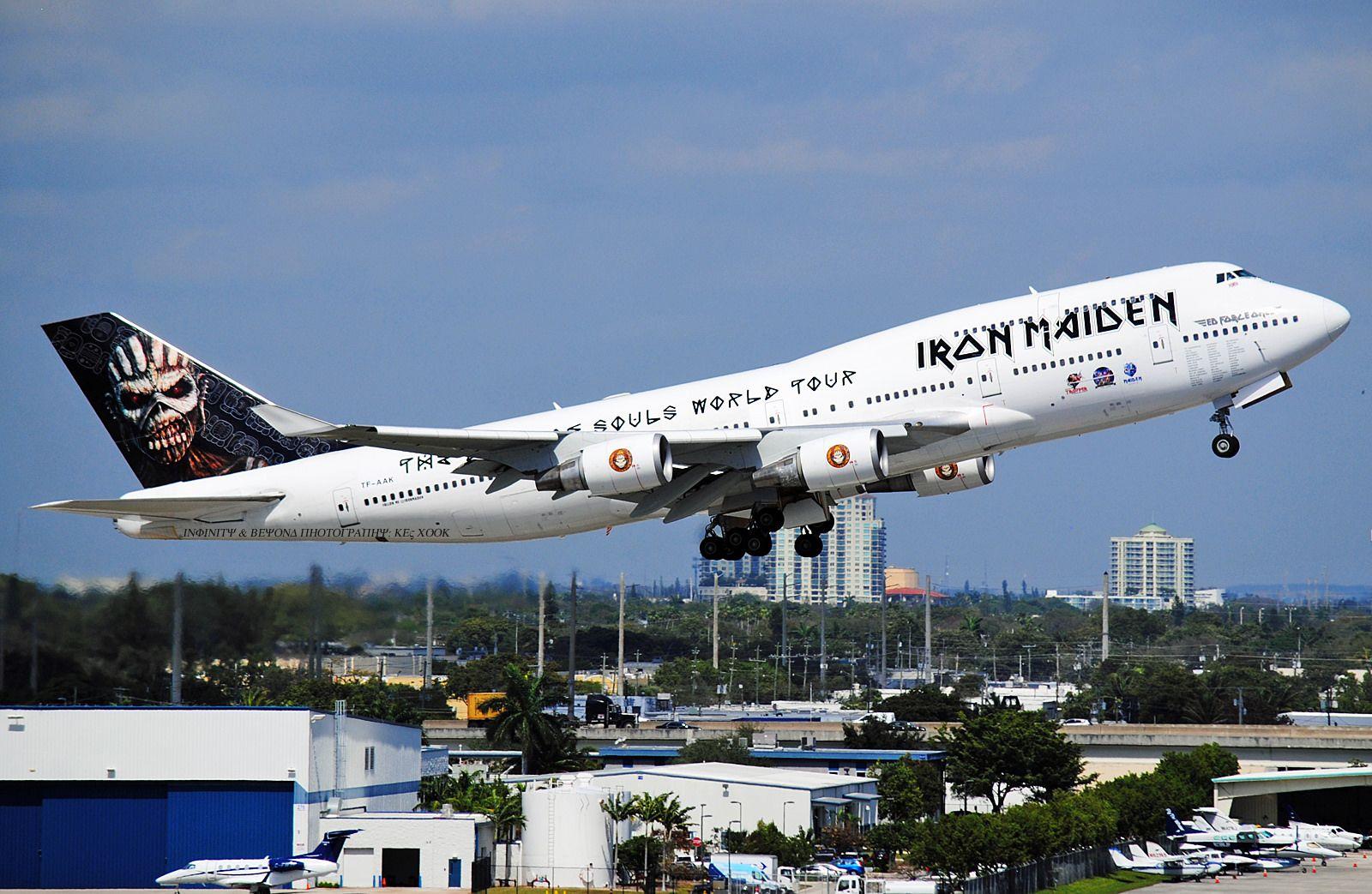 iron maiden 747. fort lauderdale. | cool planes | pinterest | flugzeug