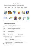 Perfekt von schwachen Verben | Arbeitsblätter, Zusammenfassung und ...