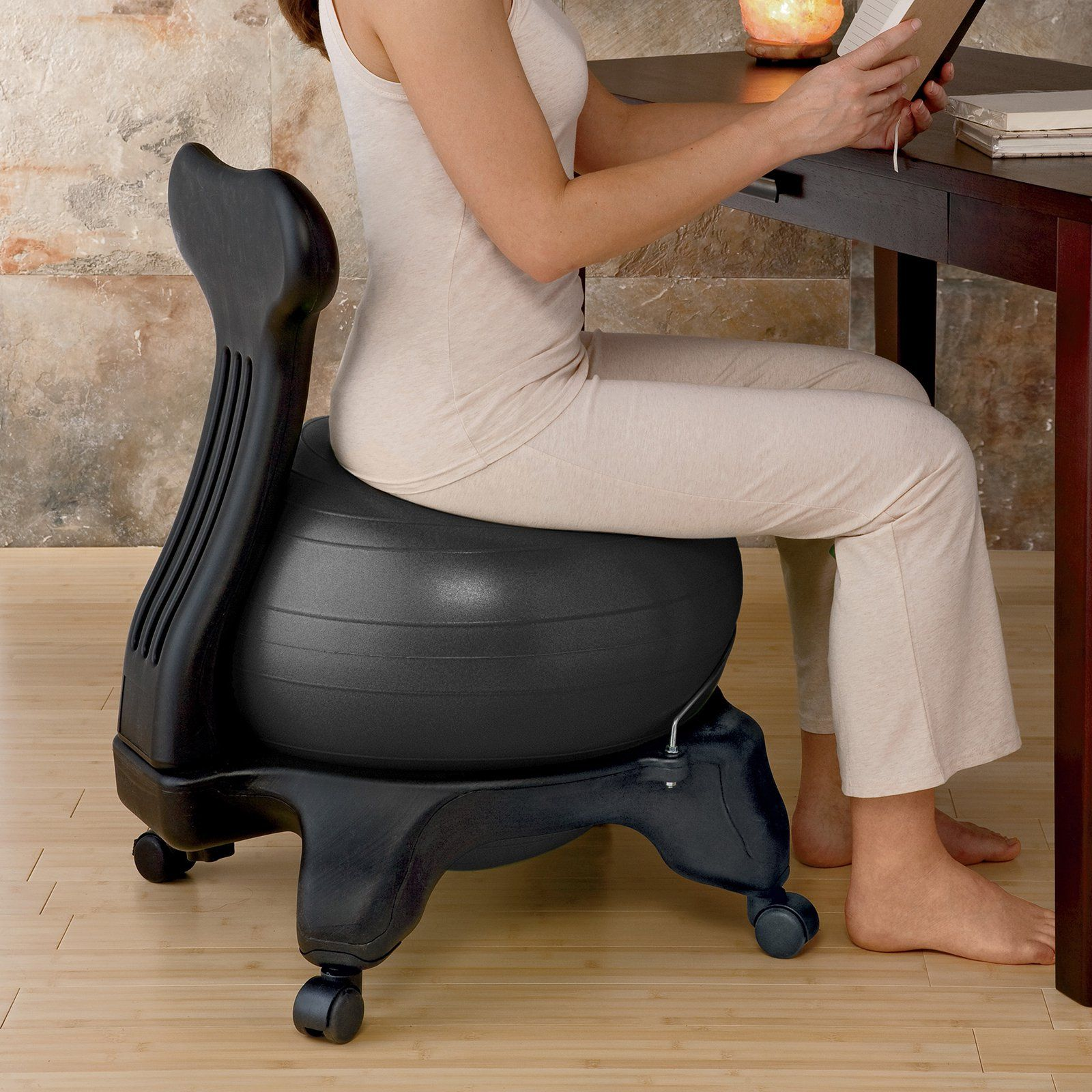 Pilates Ball Chair Gaiam Balance Ball Chair With Pump 610 6002rtl Products In