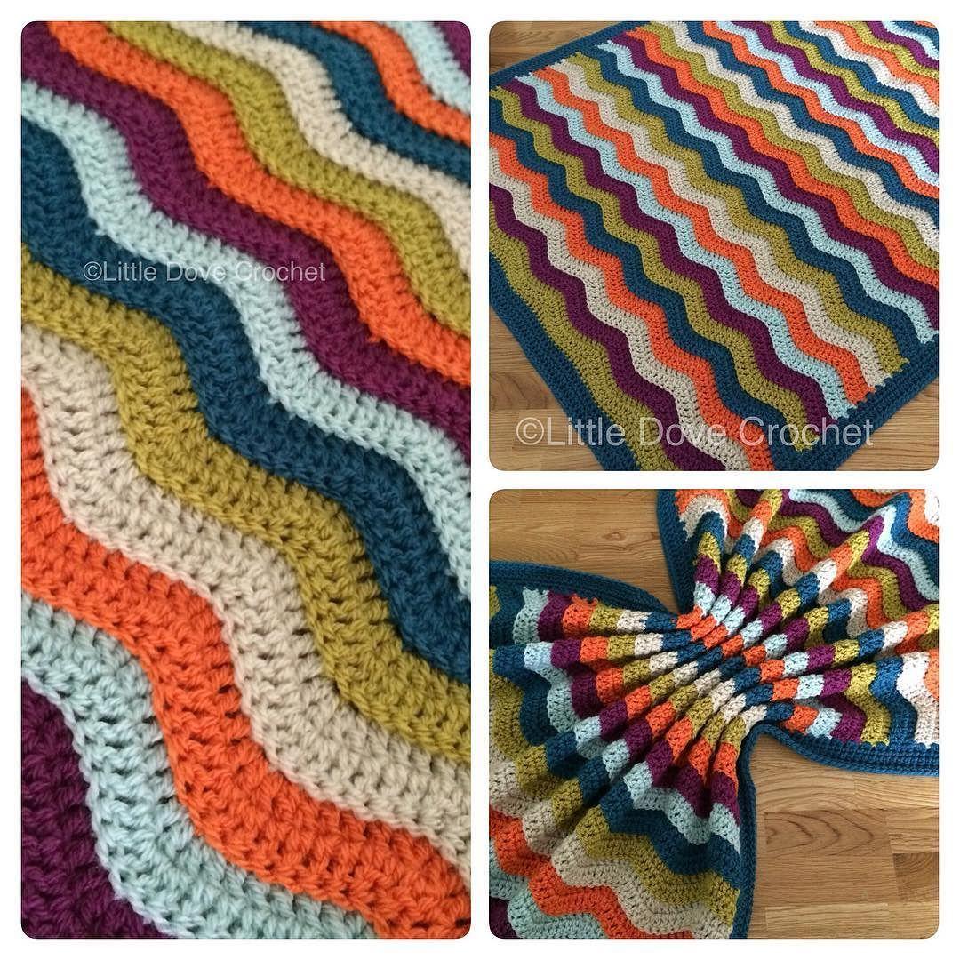 Lujoso Patrón Afghan Sola Ondulación Crochet Libre Modelo - Ideas de ...