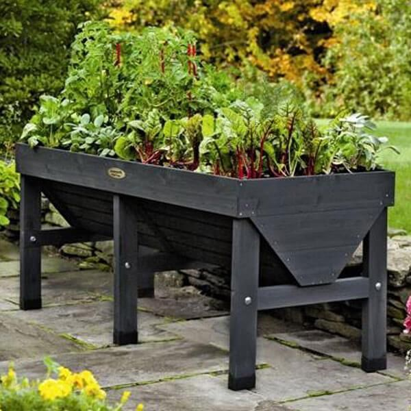 Charcoal Vegtrug Patio Garden Planter. www.teeliesfairygarden.com . . . This charcoal vegtrug patio garden planter is just lovely! All nature and gardening enthusiasts will surely love to have this in their garden! #fairyplanter