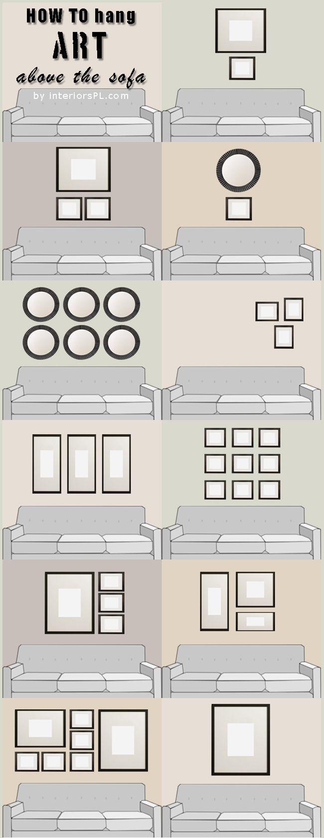 Como distribuir cuadros | Fotowand, Wohnzimmer und Bilderrahmen