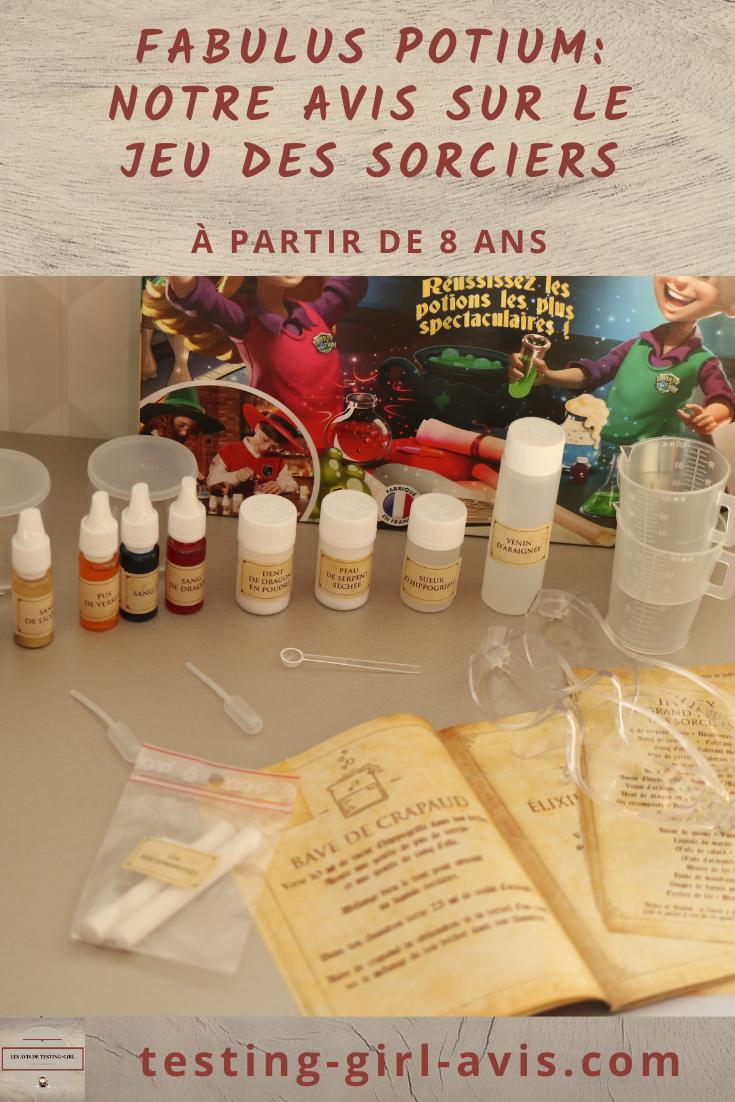 Voici une idée cadeau pour noël pour un enfant à partir de 8 ans ! Avec Fabulus Potium, la chimie est réinventée façon magie dans un décor du type Harry Potter ! Envie d'en savoir plus ? #ideecadeaunoelenfant #8ans #10ans #12ans