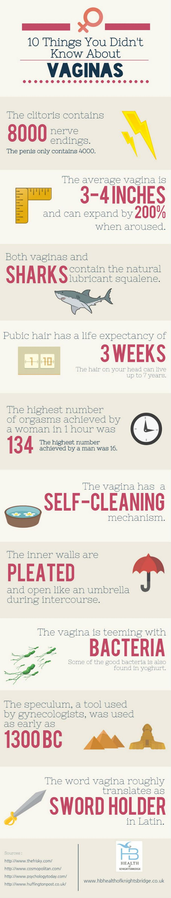 10 Things You Didn't Know About Vaginas #Infographic