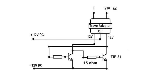 simple inverter  12v dc to 220v ac  picture of the schematic